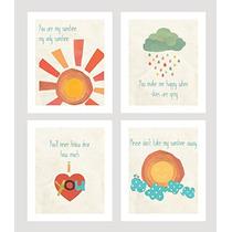 Usted Es Mi Sol Print Collection (juego De Cuatro 5x7 Wall