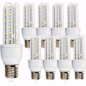 Kit 10 Lampada Led 9w 3u Soquete E27 Bivolt Casa Comercio