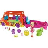 Boneca E Veículo Polly Pocket Carrinho De Sucos Mattel