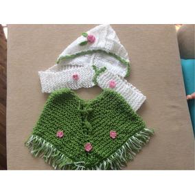 Poncho Y Gorro En Crochet