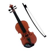 Violino Infantil Acustico Com 4 Cordas E Arco Mini Brinquedo