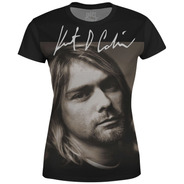 Camiseta Baby Look Feminina Nirvana Estampa Digital Md06