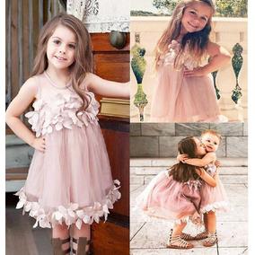 Hermoso Vestido Con Flores Color Palo De Rosa