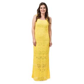Vestido Longo Feminino Tricô Tricot Renda Madrinha Casamento