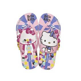 Chinelo Infantil Menina Ipanema Hello Kitty Rosa Rosa 005003
