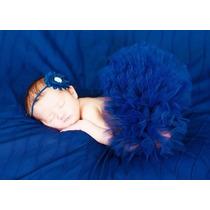 Saia Tutu Tule Fantasia P/ Ensaio Fotográfico Bebê Newborn