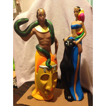 Figura De Yeso Africano