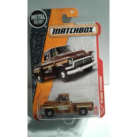 Auto Pick Up 57 Gmc Stepside Sheriff Matchbox Camione Rdf1
