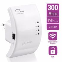Repetidor E Roteador Internet Rede Wifi 300mbps Wps Re051