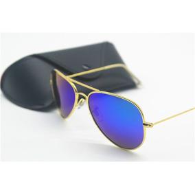 e19f67efd3a9e Oculos Sol Espelhado Haste Dourada - Calçados, Roupas e Bolsas no ...