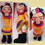 Muñeca Frida Kalho Amigurumi 25 Cm Crochet Amigurumis