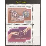Argentina 1811/2 Gj 2519/0 Ejercito Salvación Se-tenant