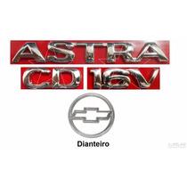 Emblemas Astra Cd 16v + Gravata - 99 À 02 - Modelo Original