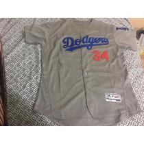 Jersey Beisbol Mlb Dodgers La. Fernando Valenzuela #34