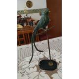 Escultura Antigua De Quetzal De Bronce Muy Grande