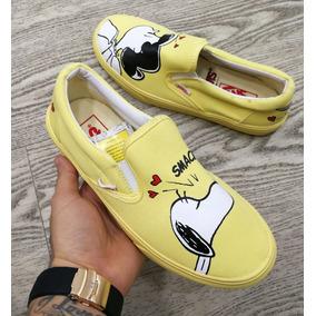 vans snoopy amarillas