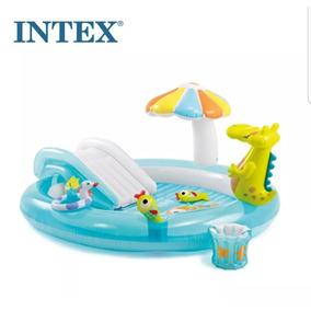 Piscina infl vel arco ris intex playground com for Piscina inflavel arco iris intex playground com escorregador