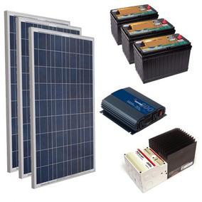 3 Paneles Solares 150 Watts + 3 Baterias 110 Ah + Inv + Ctrl