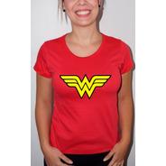 Baby Look Ou Camiseta Mulher Maravilha Logo