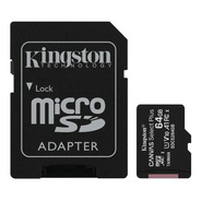 Memoria Sd 64gb Kington + Adaptador Nuevo Gtia