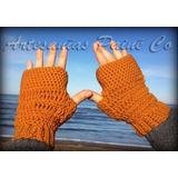 Mitones Artesanales. Guantes Sin Dedos Tejidos A Crochet