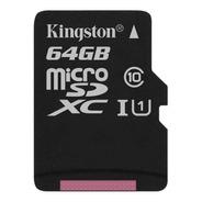 Tarjeta Memoria Kingston Sdcs Canvas Select Plus 64gb Sd