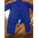 Kimono Infantil Judo Faixa Branca Kids Shihan Original Azul