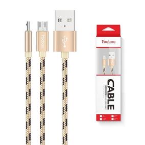 Cable Micro Usb Nylon Yoobao Yb-423 + Garantía