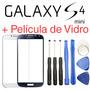 Kit Tela Vidro Galaxy S4 Mini I9192 Visor Lente S/ Touch Lcd