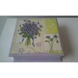 Caja Fibro Facil Decorada Con Pintura Y Decoupage