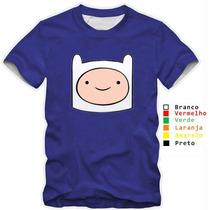 Camisa Camiseta Hora De Aventura Finn Varias Cores Algodão