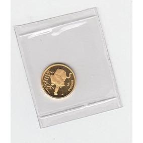 1986 Moneda De Oro De Tigre De Singapur 1/20 Oz. Opción De