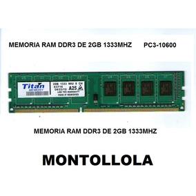 Memoria 2gb Ddr3 1333 Mhz Pc3-10600 Nuevas Oferta!!