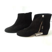 Elegantes Botines Negros Para Dama Massimo Dutti