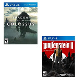 Jogo Shadow Of The Colossus + Wolfenstein Ii - Ps4