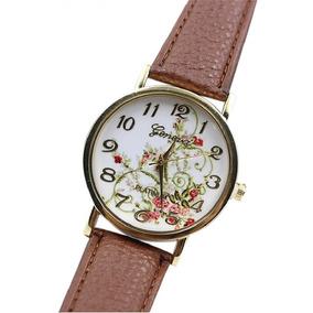 Relógio Pulso Feminino Barato Frete Grátis Pulseira Couro