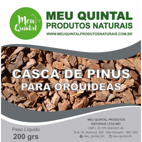 Acessório Para Raiz De Orquídeas Casca De Pinus 1kg