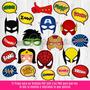 Props Imprimibles Superheroes Vengadores Photo Booth Fiestas