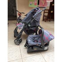 Carrinho De Bebê Burigotto At2 + Bebê Conforto + Base