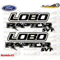 Stickers Ford Lobo Raptor Svt Calcomanias Costado Batea
