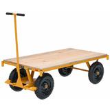 Carrinho Plataforma 600 Kilos Madeira Para Transporte 1,5x75