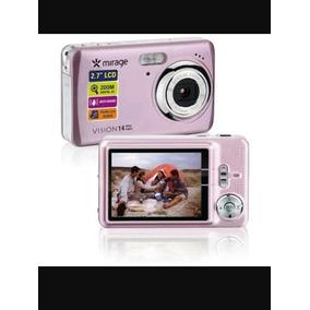 Câmera Mirage Vision -14 Mega Pixels -rosa /semi Nova