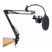 Kit Profesional Brazo Microfono Antipop Soporte Araña Studio