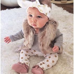 Roupa Bebê Casaquinho Colete Inverno Menina Top Importado