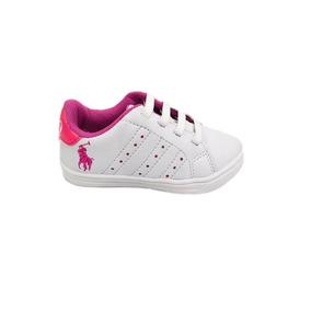115ad46ba6e63 Tênis Infantil Feminino Da Polo Na Cor Branco Com Rosa-24