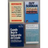 Guy Sorman Y Otros. Bancarrota Estado, Política Fiscal, Lote