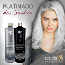Máscara Matizadora Platinum Blond + Black Souple Liss 1 L