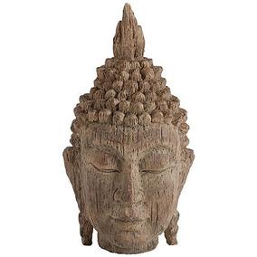 Escultura Cabeza Buddha Tierra