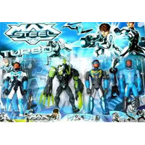Kit Com 4 Bonecos Max Steel Turbo - A Pronta Entrega