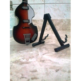 Miniatura Base Pedestal Guitarra E Violao Guitar Salvat
